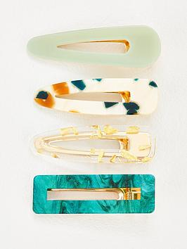 michelle-keegan-4-pack-mixed-resin-hair-clips-green