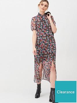 v-by-very-georgette-twist-neck-midi-dress-floral