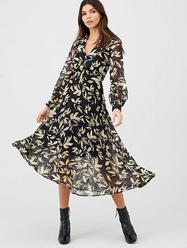 v-by-very-button-through-pleated-skirt-dress-print