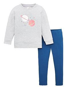 v-by-very-girls-2-piece-sequin-detail-space-drop-hem-sweatshirt-dress-and-leggings-set-grey