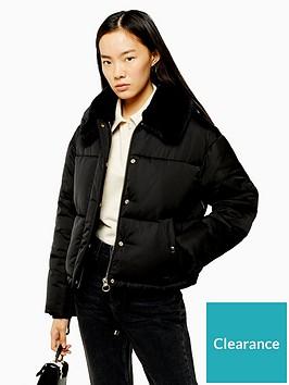 topshop-faux-fur-trim-padded-jacket-black