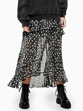 topshop-star-ruffle-maxi-skirt-black