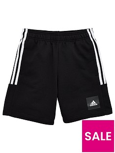 adidas-boys-3-stripe-shorts-black