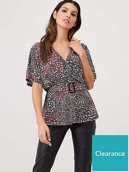 v-by-very-floral-belted-top-blackfloral