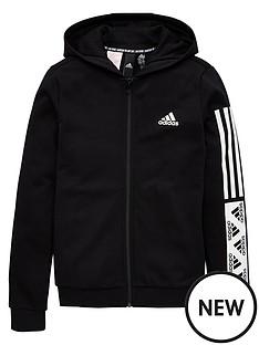 adidas-girls-dmh-full-zip-hoodie-black