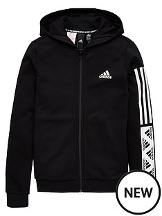adidas-girls-full-zip-hoodie-black