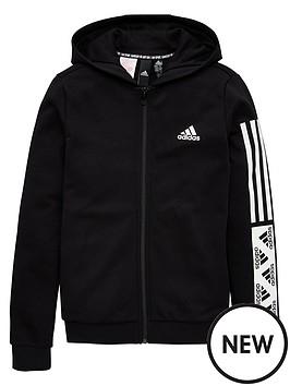 adidas-girls-full-zip-hoodie-black