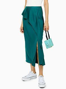 topshop-topshop-draped-satin-bias-cut-skirt-green