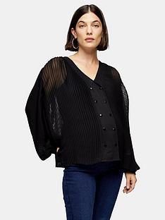 topshop-topshop-maternity-gather-yoke-shirt-black