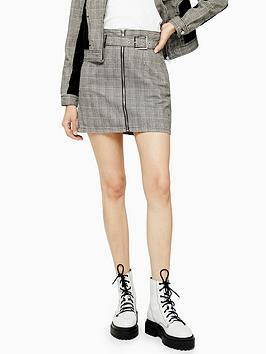 topshop-check-belt-buckle-skirt-monochrome
