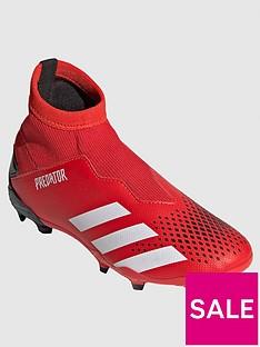 adidas-junior-predator-laceless-193-firm-ground-football-boots-redblack