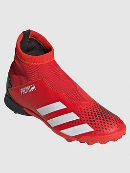 adidas-junior-predator-laceless-193-astro-turf-football-boots-redblack