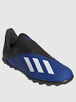 adidas-junior-x-laceless-193-astro-turf-football-boots-blue