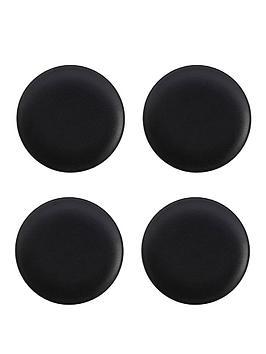 maxwell-williams-caviar-black-coupe-plates-ndash-set-of-4