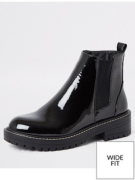 river-island-river-island-wide-fit-chunky-ankle-boot-black