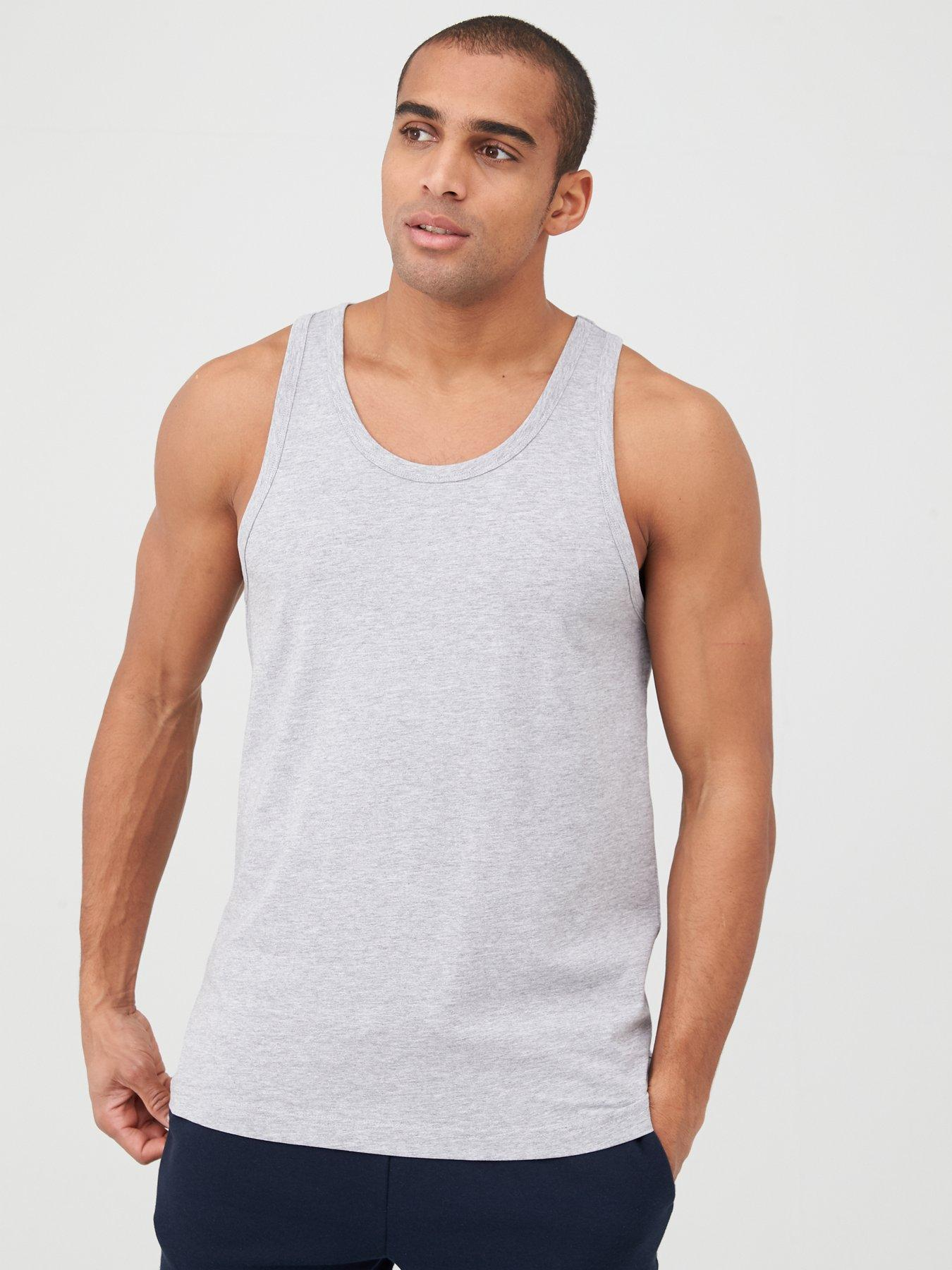 Mens tank top trucker decal sleeveless muscle tee shirt
