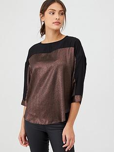 oasis-hammered-satin-dolman-blouse-black