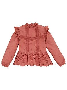 v-by-very-girls-woven-broderie-ruffle-top-pink