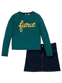 v-by-very-girls-2-piece-fierce-jersey-top-and-denim-skirt-set-multi