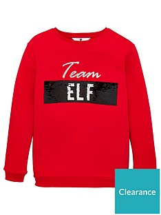 v-by-very-team-santaelf-reversible-sequin-christmas-sweatshirt-red