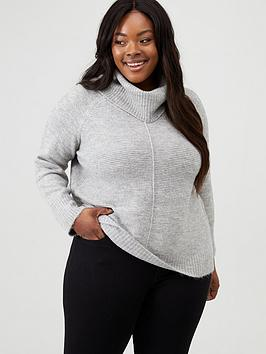 oasis-curve-oasis-curve-lucy-lurex-ottoman-long-length-roll-neck-jumper-grey