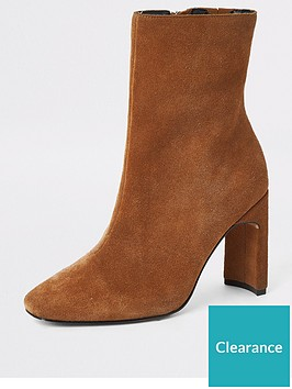 river-island-river-island-wide-fit-suede-ankle-boot-beige