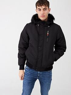 river-island-black-prolific-short-hooded-faux-fur-jacket