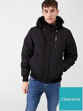 river-island-black-prolific-short-hooded-faux-fur-jacket