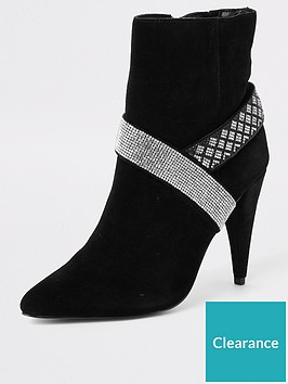 river-island-river-island-embellished-suede-cone-heel-boot-black