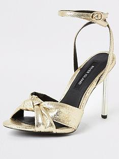 river-island-knot-front-sandal-gold