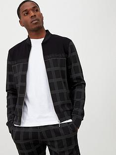 river-island-black-check-maison-riviera-tape-bomber-jacket