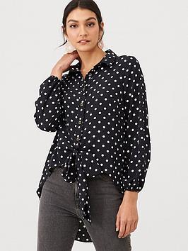 v-by-very-tie-front-longline-shirt-spot