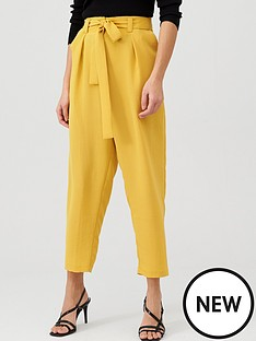 v-by-very-tie-waist-trouser-mustard