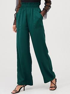 v-by-very-paperbag-satin-trousers-green