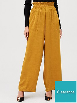 v-by-very-paperbag-satin-trousers-mustard