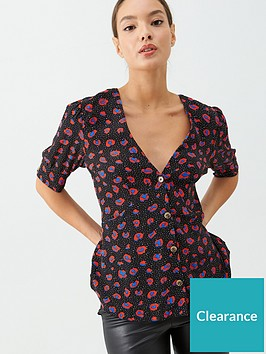 v-by-very-tie-sleeve-button-through-printed-blouse-animal