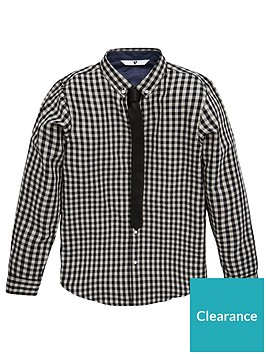 v-by-very-boys-2-piece-gingham-shirt-and-tie-set-greyblack