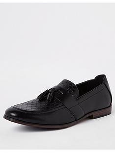 river-island-mono-embossed-loafer