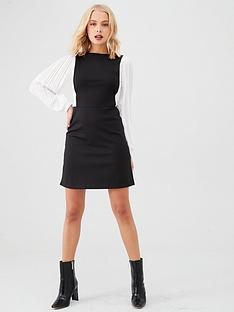 river-island-2-in-1-pinny-dress--black