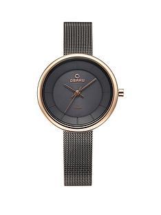 obaku-obaku-lys-grey-and-rose-gold-detail-stepped-solar-dial-gunmetal-grey-stainless-steel-mesh-strap-ladies-watch