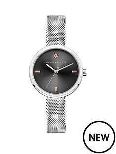 amanda-walker-amanda-walker-black-sunray-and-rose-gold-detail-dial-stainless-steel-bracelet-ladies-watch