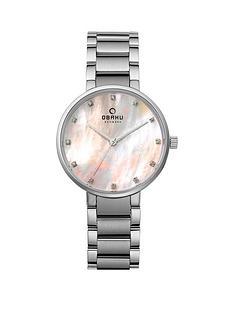 obaku-obaku-glad-pink-mother-of-pearl-dial-stainless-steel-bracelet-ladies-watch