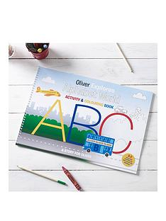 personalised-a4-alphabet-world-colouring-book