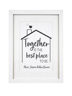 personalised-best-place-to-be-a4-framed-print