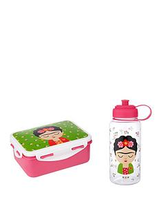 sass-belle-frida-kahlo-lunch-box-and-waterbottle