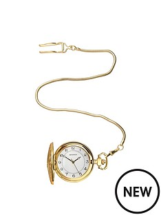 sekonda-sekonda-white-dial-gold-stainless-steel-case-pocket-watch