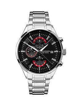 sekonda-sekonda-black-and-red-detail-chronograph-dial-stainless-steel-bracelet-mens-watch