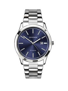 sekonda-sekonda-blue-sunray-date-dial-stainless-steel-bracelet-mens-watch