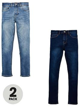 v-by-very-boys-2-pack-skinny-jeans-bleach-washdark-wash
