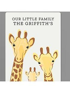 personalised-giraffe-family-metal-sign